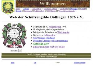 Homepage von 1998 bis 2009